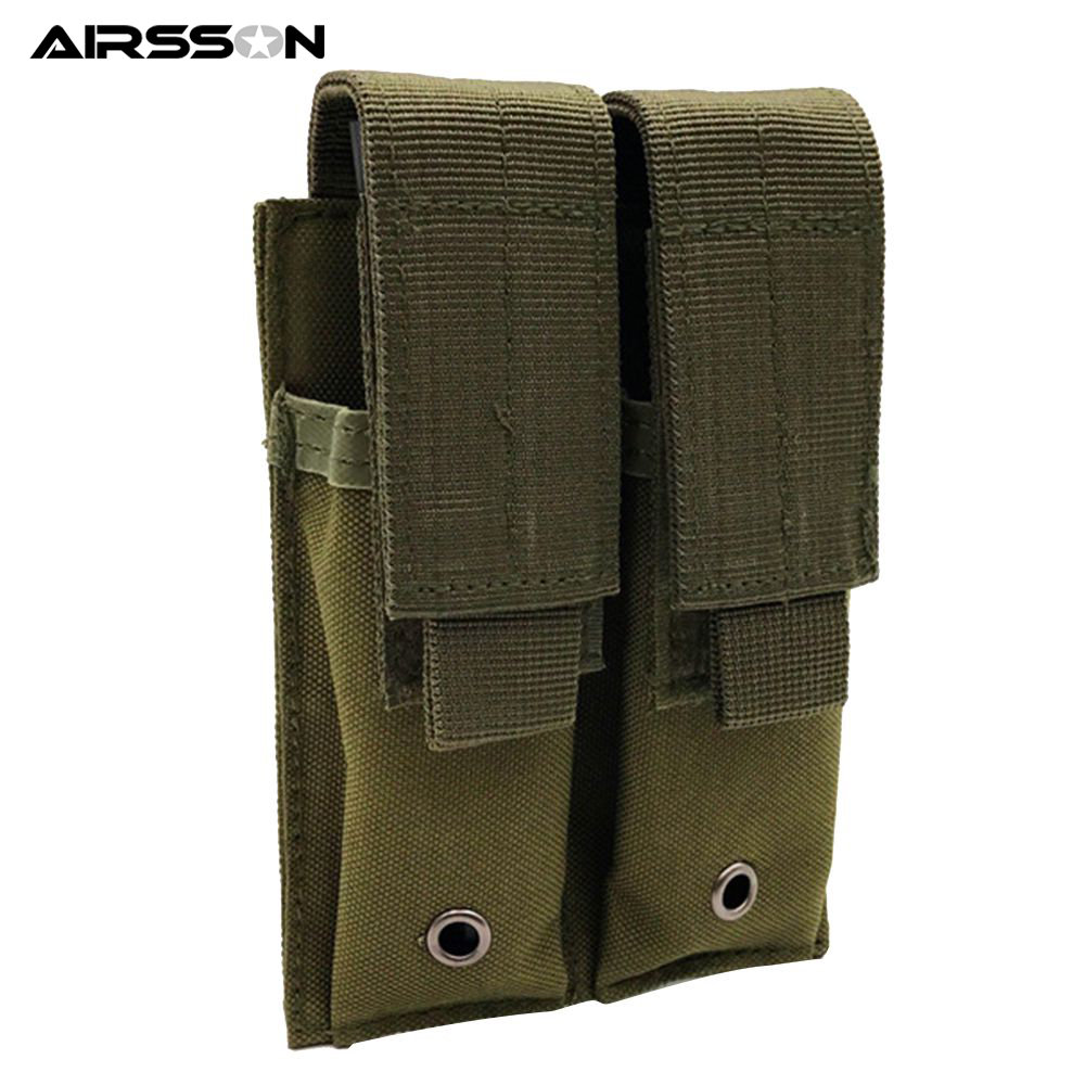 Multicolor Nylon 600D Tactical Molle Pouch Dual Double Pistol Mag Magazine Pouch Close Holster Cartridge Clip Utility